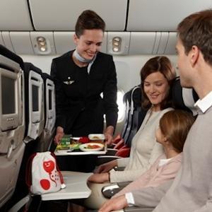 вегетарианцы в самолете