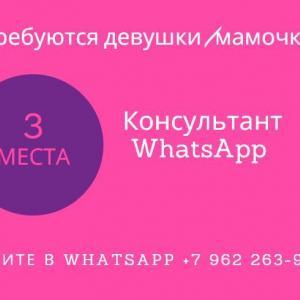 Консультант  WhatsApp