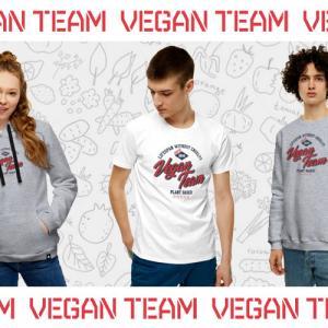 """Футболки, свитшоты и толстовки """"Vegan Team"""" отличного качества от российского производителя. Несколько цветовых решений, удобная посадка, яркий принт"""